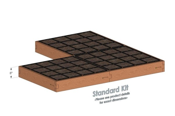 Corner Raised Garden Kit Standard Height