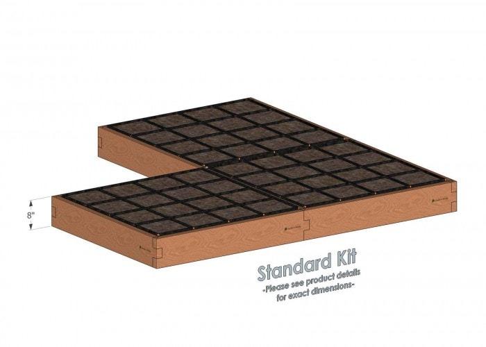 Corner Raised Garden Kit Standard Height