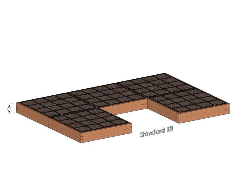U Shaped Cedar Raised Garden Kit Standard