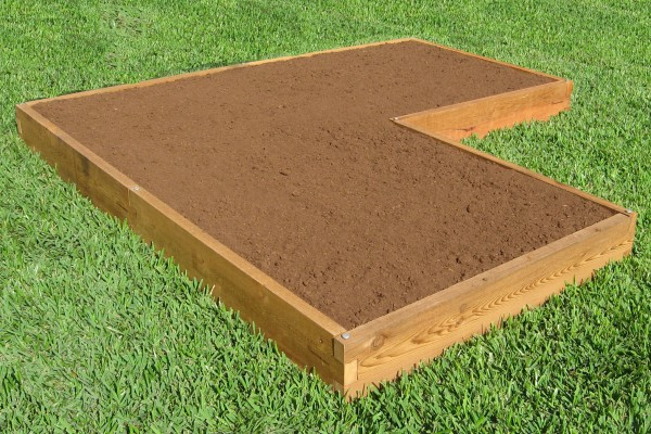 Corner Shaped Raised Garden Bed 4x12 Raised Garden Bed