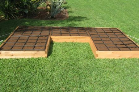 All-in-one, U Shaped Raised Garden Kit with Garden Grid watering systems.