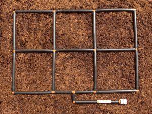 2x3 Garden Grid watering system