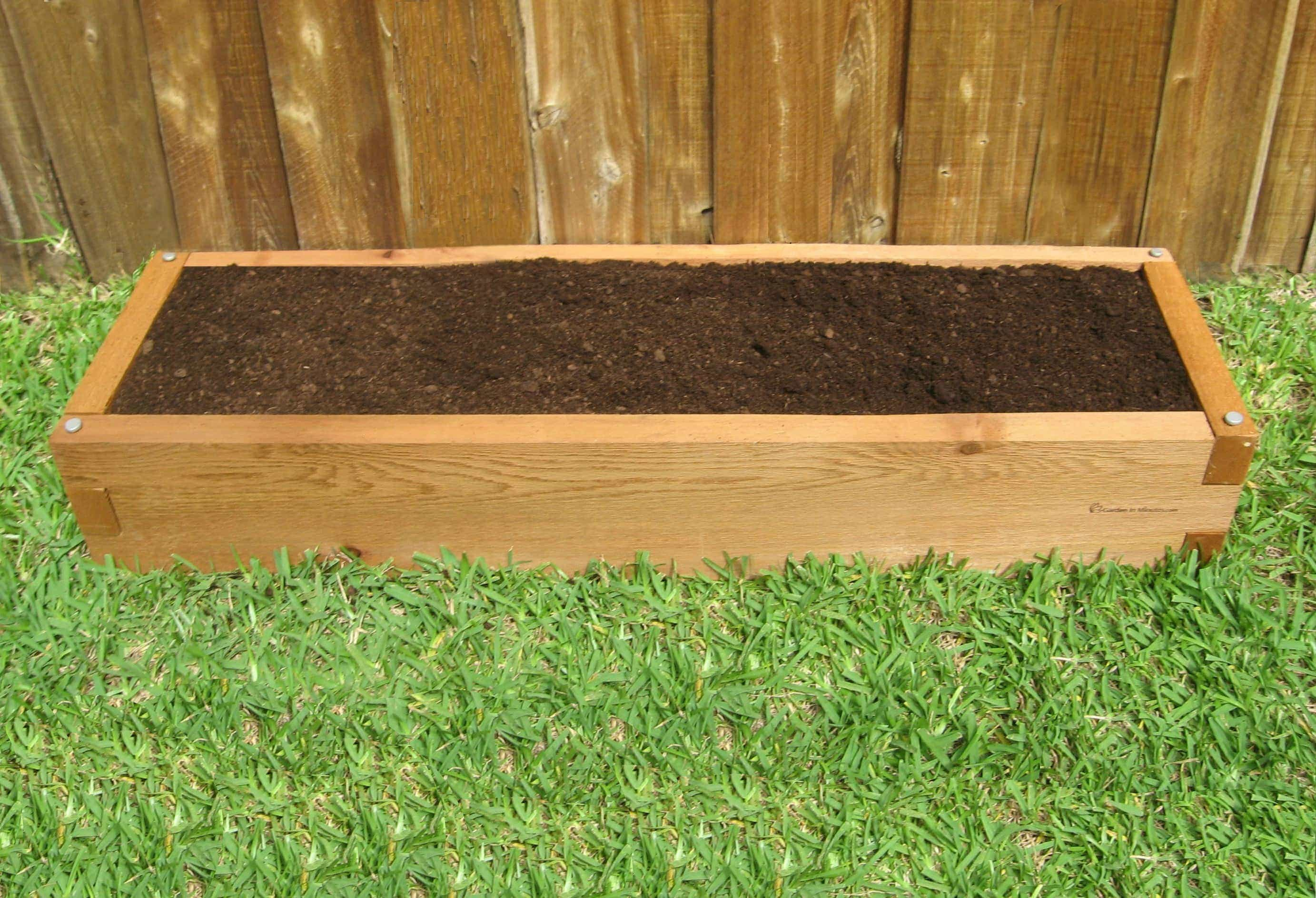 Handcrafted 1x4 Raised Garden Bed Garden In Minutes