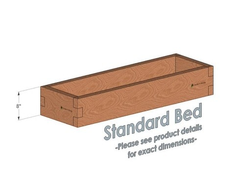 1x4 Cedar Raised Garden Bed Standard Height