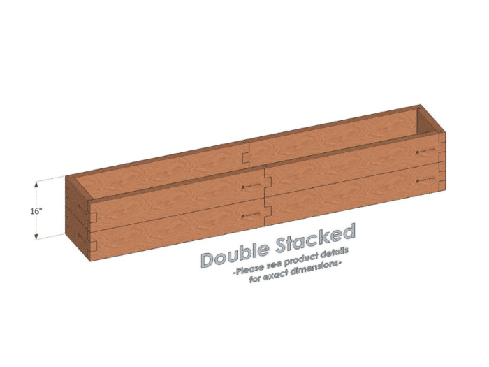 1x8 Raised Garden Bed 16 inch height