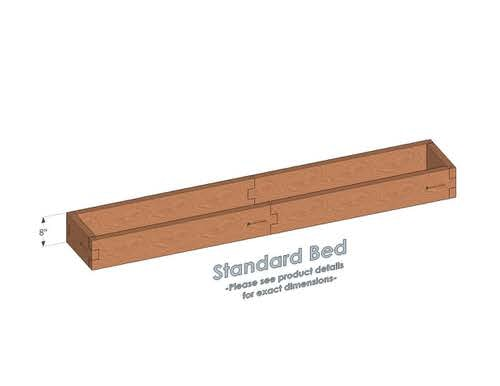 1x8 Cedar Raised Garden Bed Standard Height