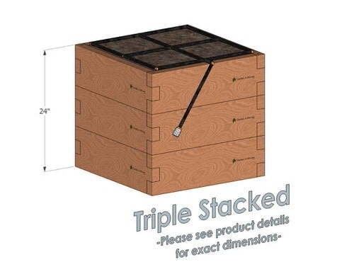 2x2x24 Raised Garden Kit Triple Stacked