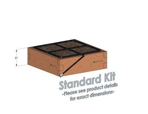 2x2x8 Cedar Raised Garden Kit Standard Bed