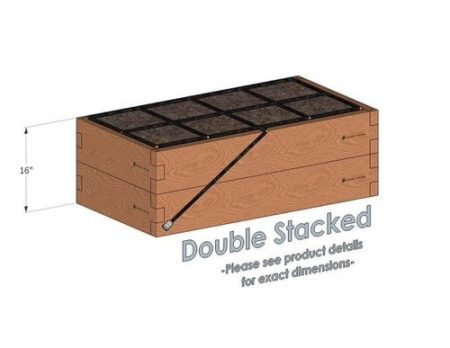 2x4 Cedar Raised Garden Kit Double Stacked