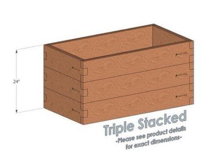 2x4 Cedar Raised Garden Bed Triple Stacked