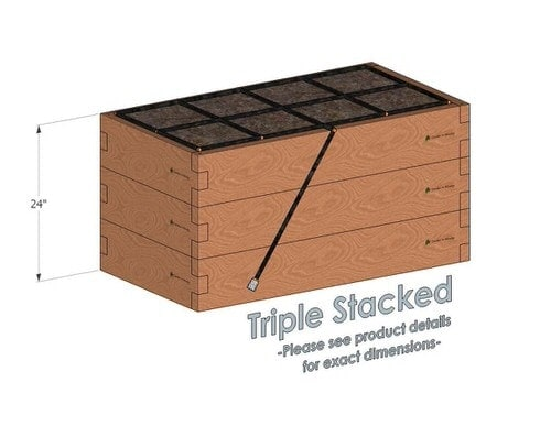 2x4x24_Raised_Garden_Kit_Triple_Stacked