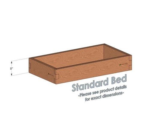 2x4 Cedar Raised Garden Bed Standard Height