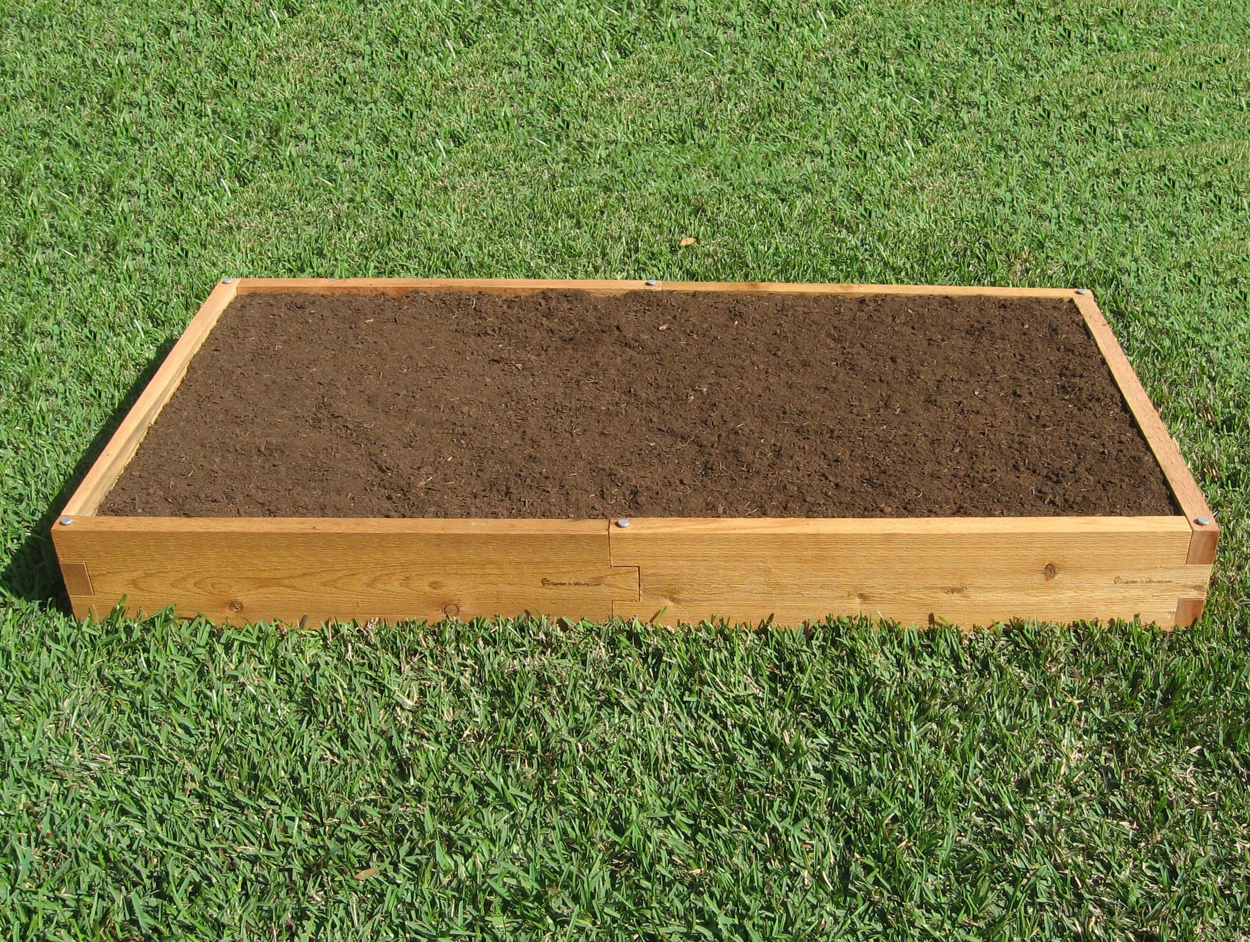 3x6 raised garden bed 3x6 cedar bed garden in minutes Raised garden beds