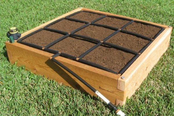 All-in-one, Cedar 3x3 Raised Garden Kit