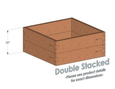3x3 Cedar Raised Garden Bed Double Stacked