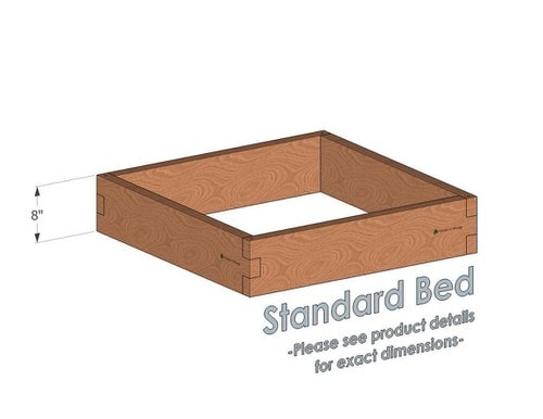 3x3 Cedar Raised Garden Bed Standard Height