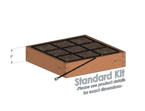 3x3 Cedar Raised Garden Kit Standard Height
