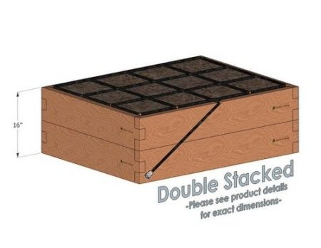 3x4 Cedar Raised Garden Kit Double Stacked