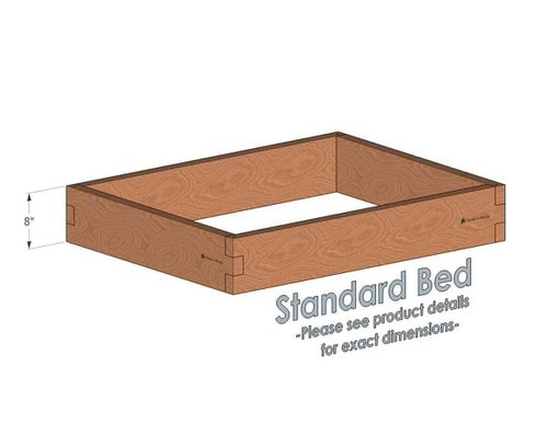 3x4 Cedar Raised Garden Bed Standard Height