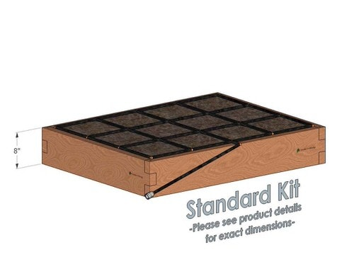3x4 Cedar Raised Garden Kit Standard Height
