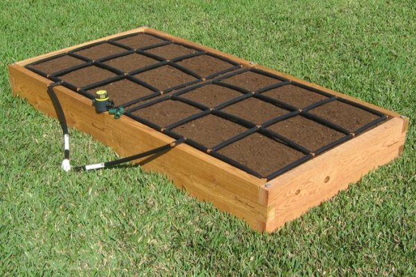 All-in-one 3x6 Cedar Raised Garden Kit