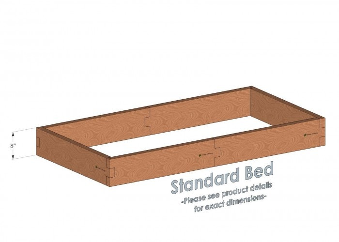 3x6 Cedar Raised Garden Bed Standard Height