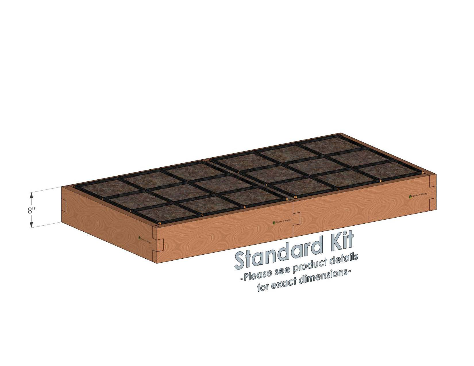 3x6 Raised Garden Kit Standard Height
