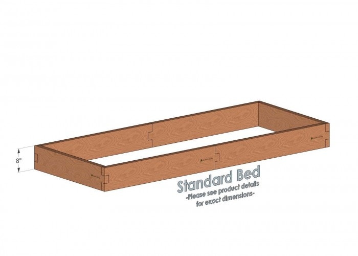 3x8 Cedar Raised Garden Bed Standard Height
