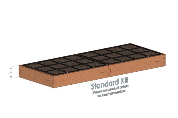 3x8 Raised Garden Kit Standard Height