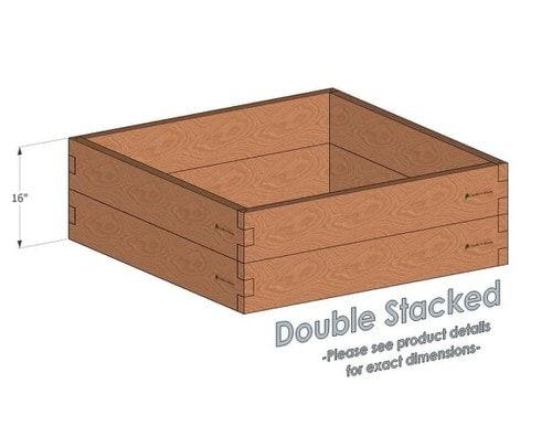 4x4 Cedar Raised Garden Bed Double Stacked