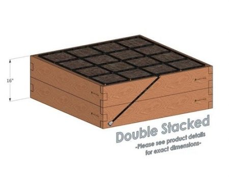 4x4 Cedar Raised Garden Kit Double Stacked