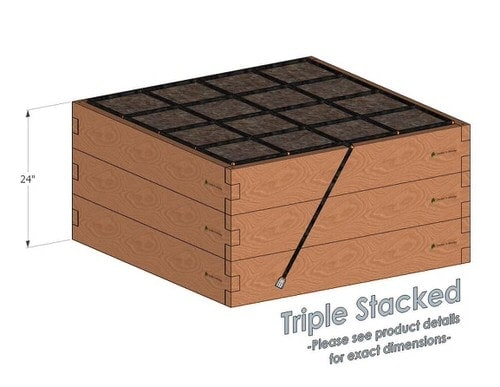 4x4x24_Raised_Garden_Kit_Triple_Stacked