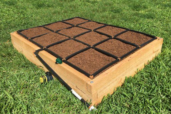 3x4 Cedar Raised Garden Kit - side view