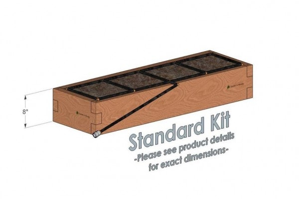 1x4 Cedar Raised Garden Kit Standard Height