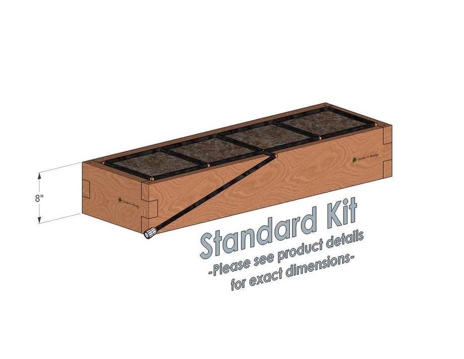 1x4 Cedar Raised Garden Kit Standard Height
