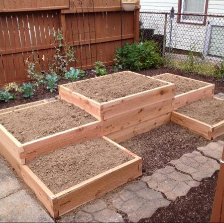 H Shaped Tiered Custom Garden Bed