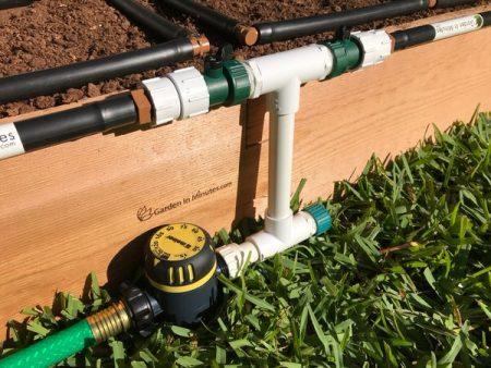 garden irrigation manifold 8in height