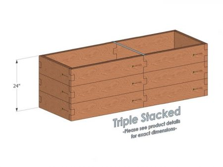 2x6 Raised Garden Bed - Triple Stacked