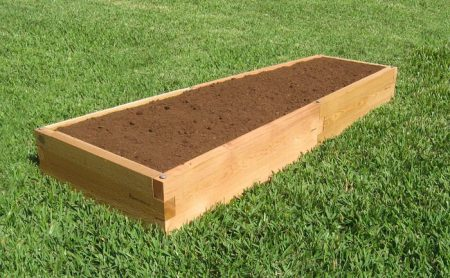 Raised Garden Bed 2x6 - Side view