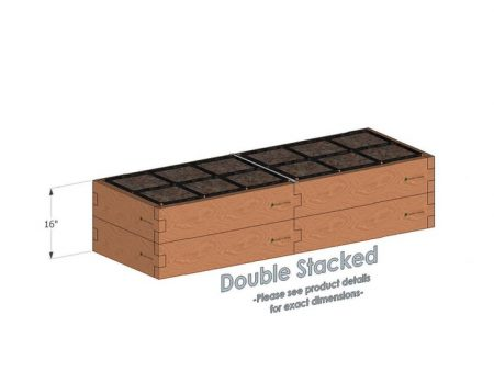 2x6x16 Raised Garden Kit Double Stacked