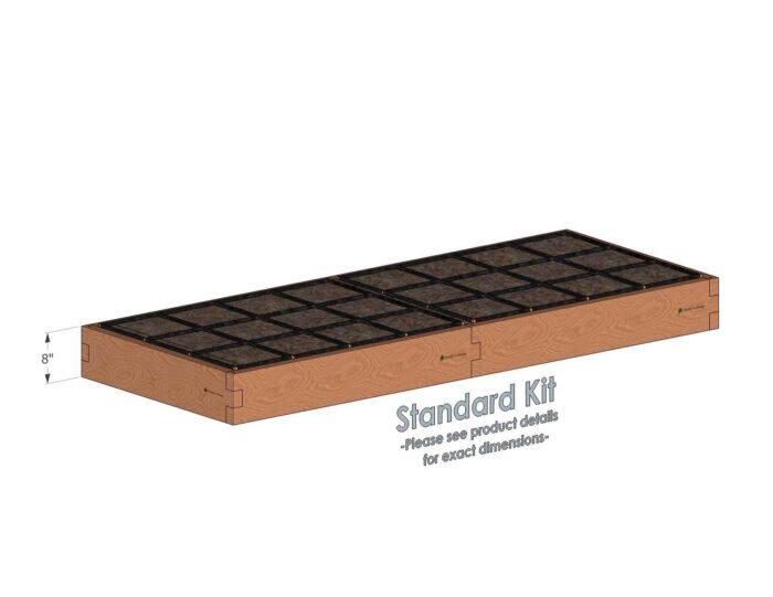 3x8 Raised Garden Kit