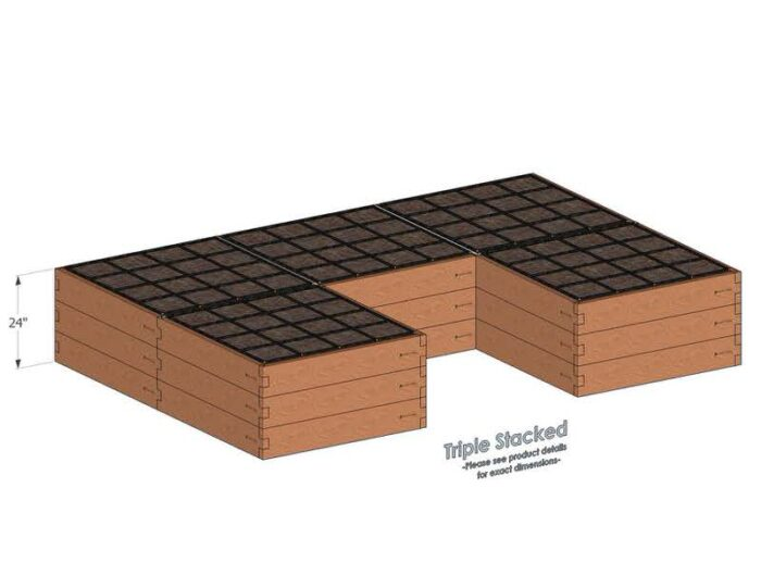 U Shaped Raised Garden Kit