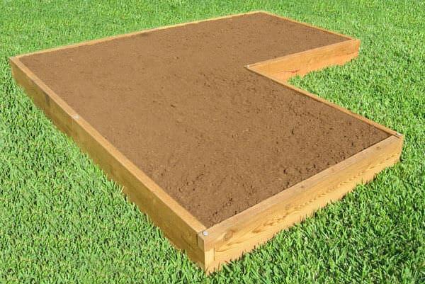 Corner Shaped Raised Garden Bed