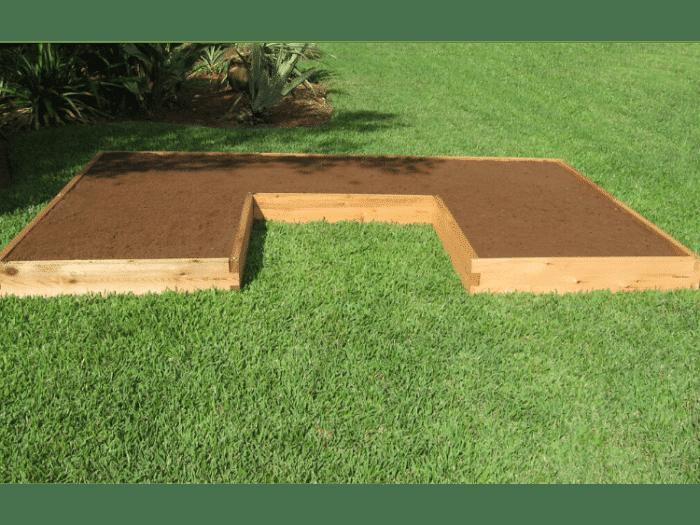 U Shaped Cedar Raised Garden Bed