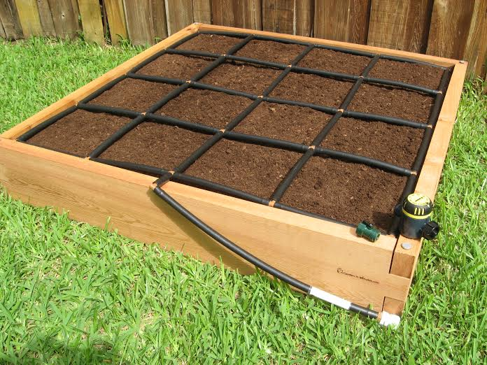 Cedar Raised Garden Bed Kit Garden Planter Box Square Foot Garden 4x4 1 - Gro Well Square Foot Gardening Soil