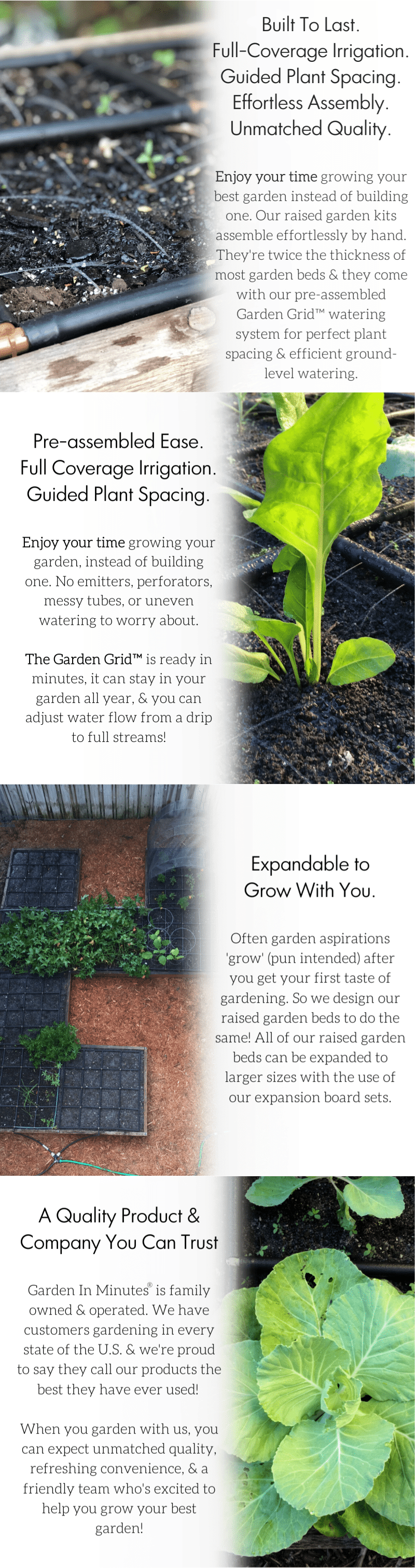 raised garden bed kit with Garden Grid watering systems
